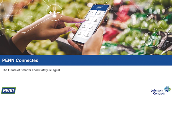 Screenshot of opening slide of Penn Connected the Future of Smarter Food Safety is Digital webinar